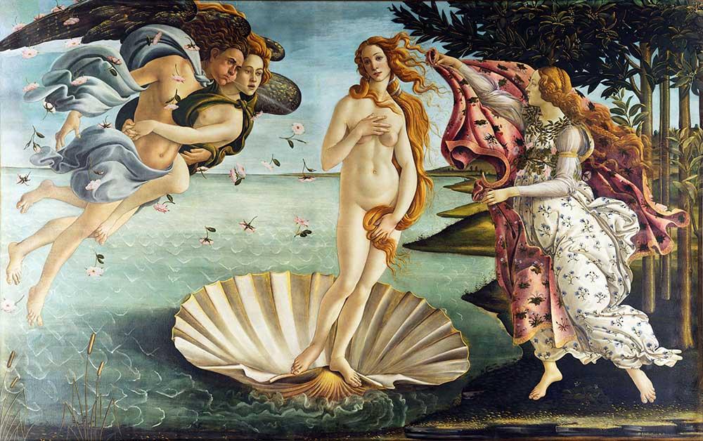 Sandro Botticelli Venüs'ün Doğuşu