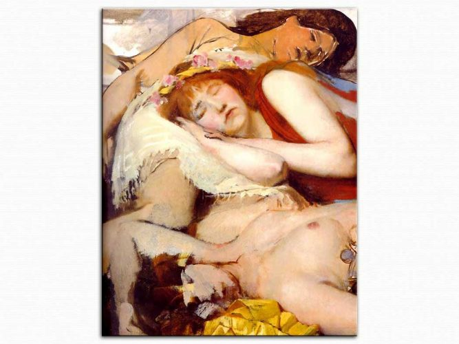 Sir Lawrence Alma Tadema Dans Sonrası Yorgun Maenides