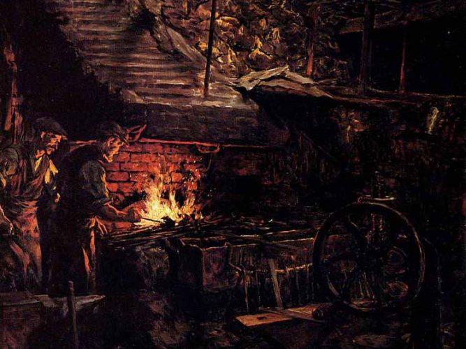 Stanhope Alexander Forbes Blacksmith'in Dükkanı