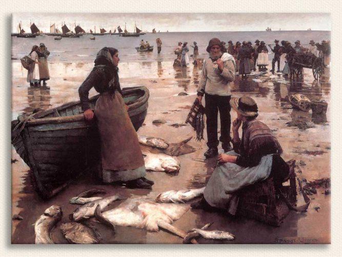 Stanhope Alexander Forbes Corn Sahilinde Balık Ticareti