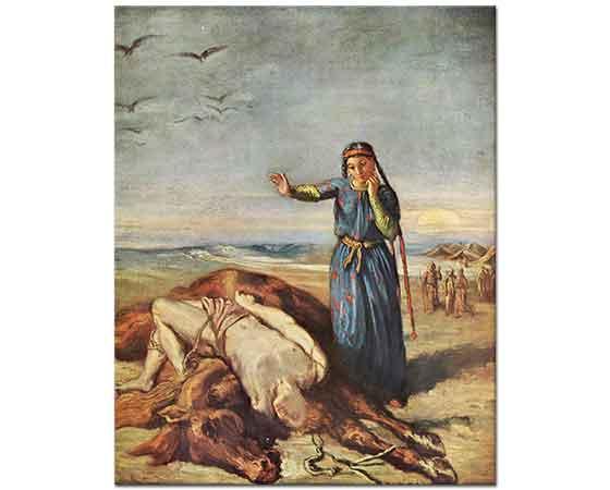 Theodore Chasseriau Kazak Kızı Mazeppa'nın Cesedi Yanında
