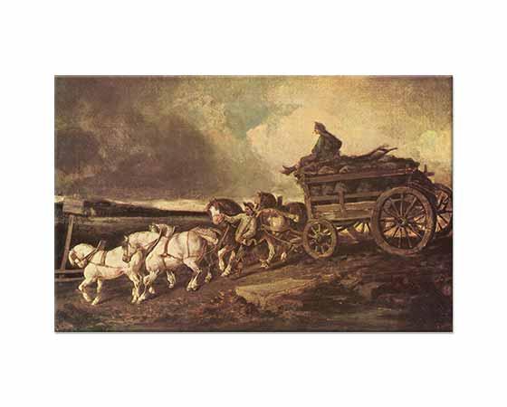 Jean Louis Theodore Gericault Kömür Arabası