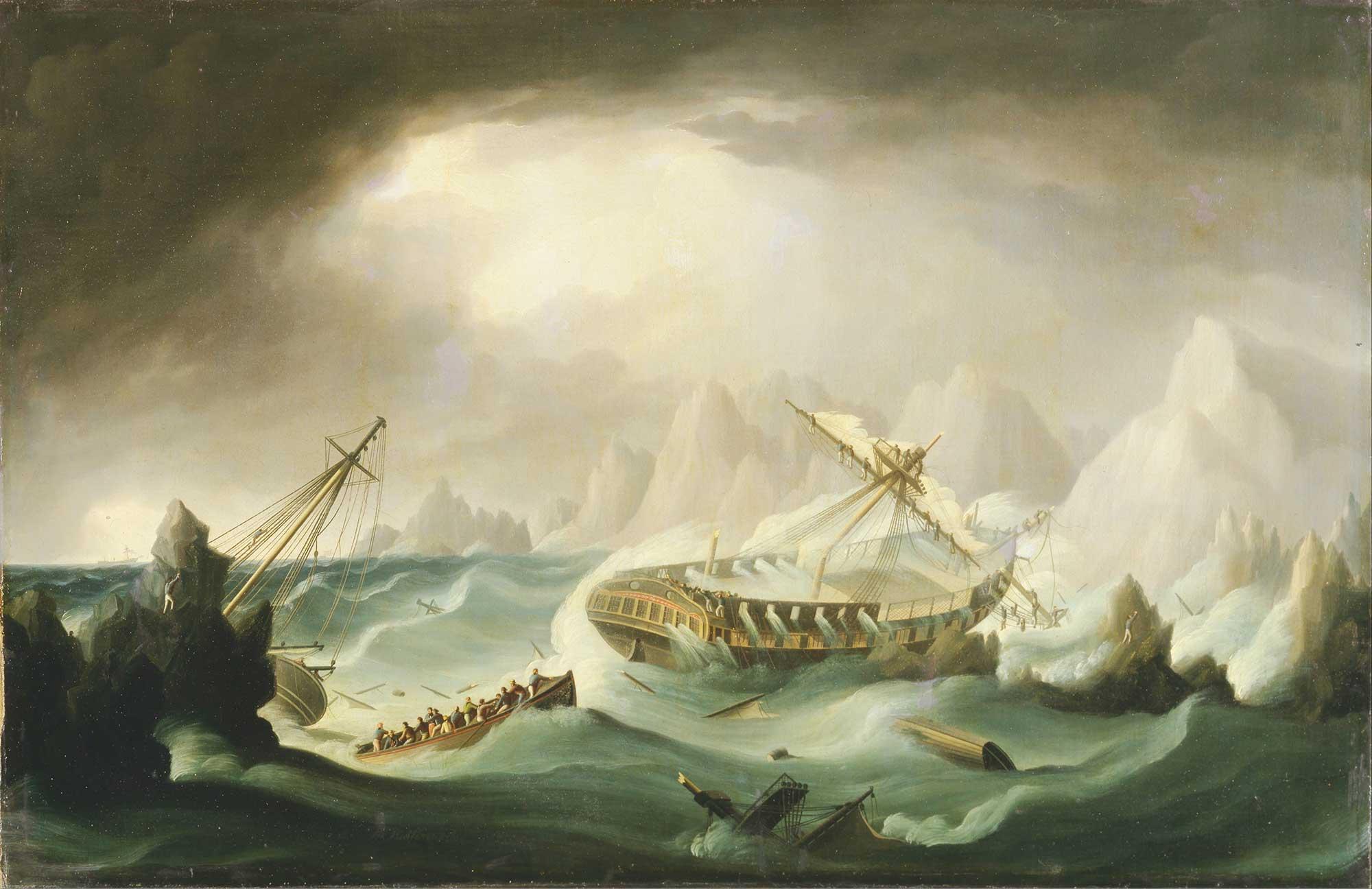 Thomas Buttersworth Rocky Kayalıklarında Gemi Kazası