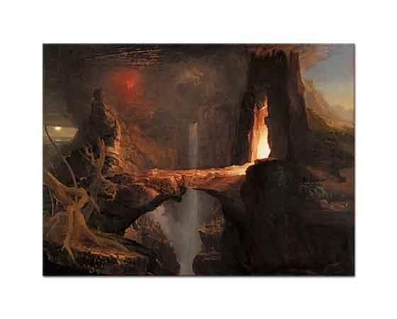 Thomas Cole Kovuluş Ay ve Alev ışığı