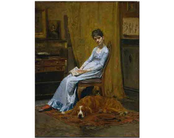 Thomas Eakins, Sanatçının Karısı ve Köpeği