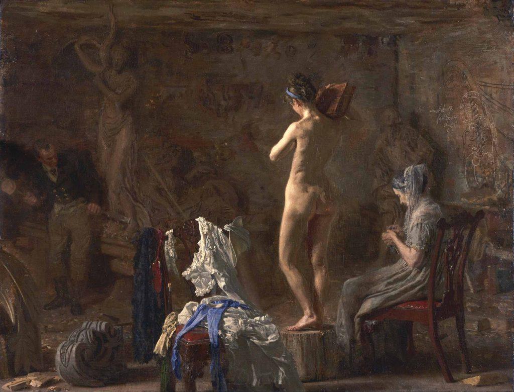 Thomas Eakins, William Rush allegorik Figürü Schuykill üzerinde çalışırken