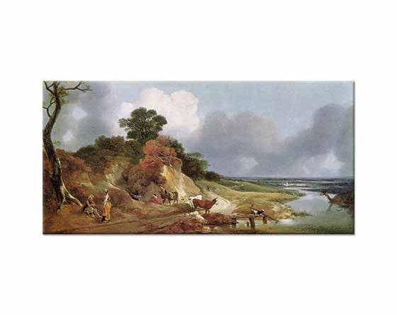 Thomas Gainsborough Cornard Köyü ve Manzarası