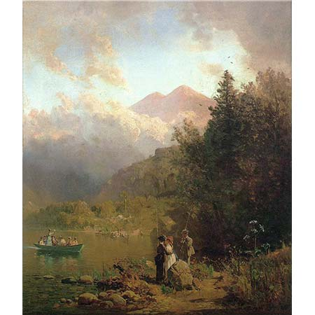 Thomas Hill Dağlarda Balık Avı