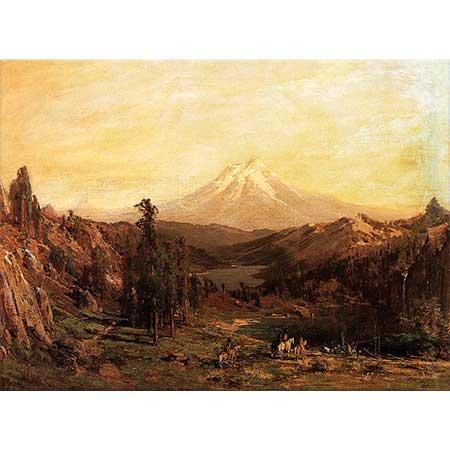 Thomas Hill Shasta Dağı ve Castle Gölü
