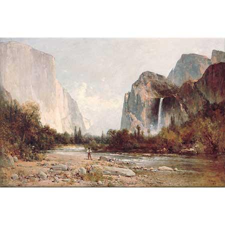 Thomas Hill Yosemite Bridal Veil Şelalesi