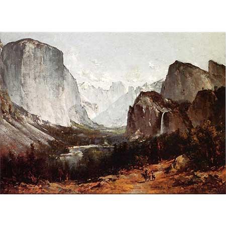 Thomas Hill Yosemite Vadisinden Görünüm