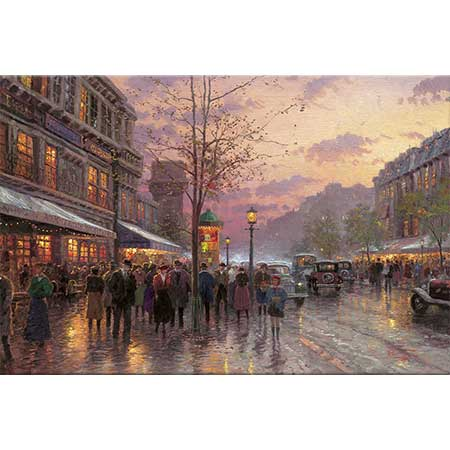 Thomas Kinkade Bulvar Işıkları Paris