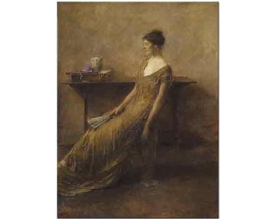 Thomas Wilmer Dewing Altınlar içindeki Kadın