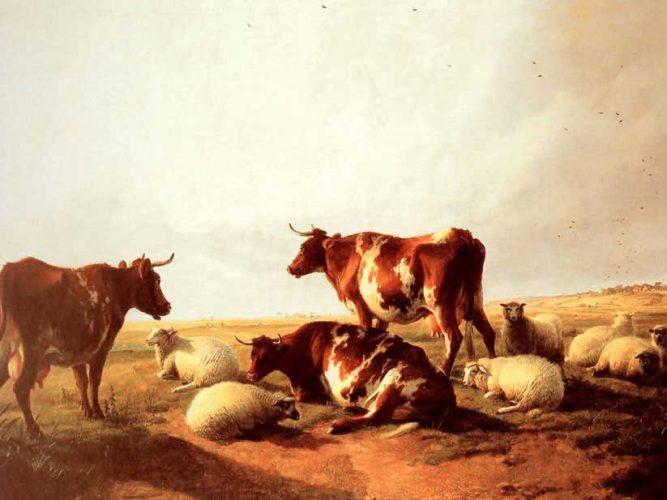 Thomas Sidney Cooper Kırda Sığır ve Koyunlar