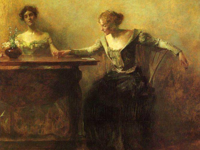 Thomas Wilmer Dewing Falcı tablosu