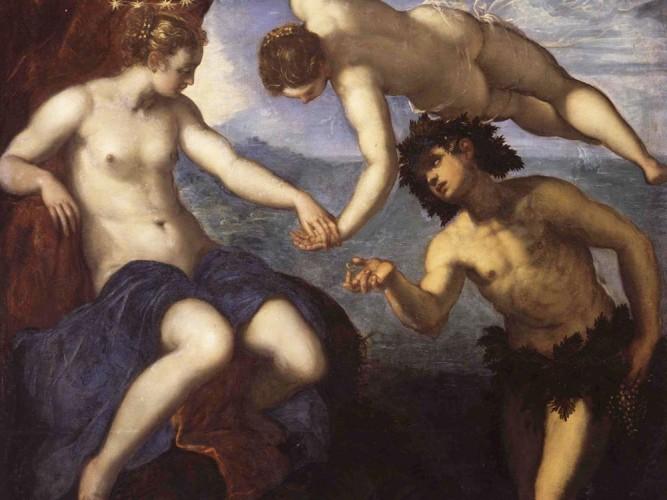 Tintoretto Baküs ve Ariadne Evlenirken