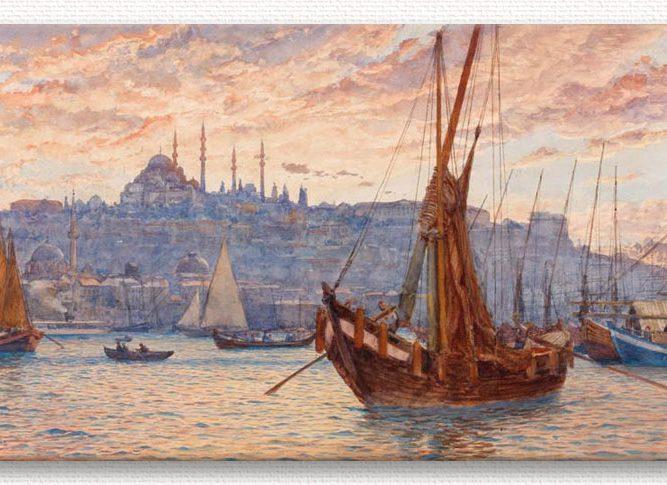 Tristram Ellis Haliç Manzarası tablosu