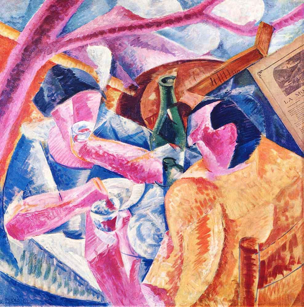 Umberto Boccioni Napoli'de Pergole Altında