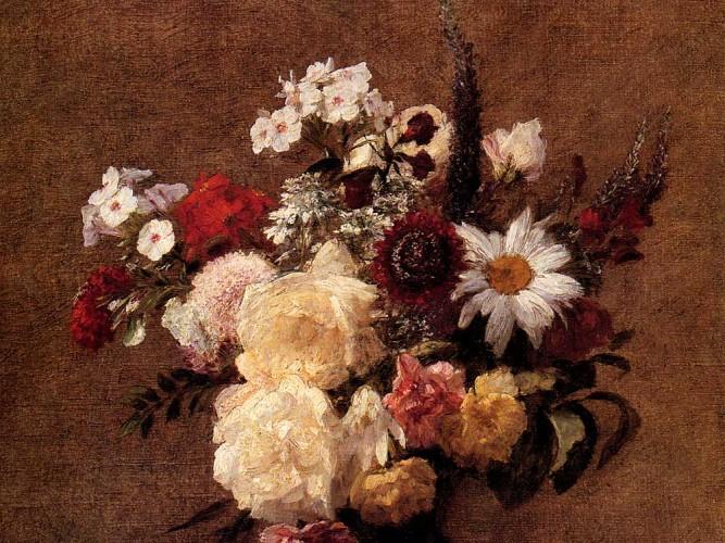 Victoria Duborg Fantin Latour çiçek buketi