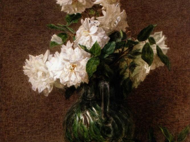 Victoria Duborg Fantin Latour vazoda çiçekler