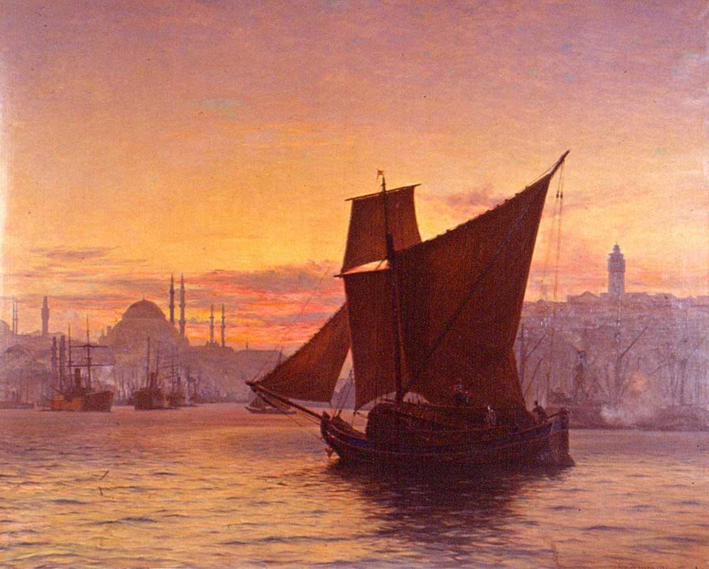 Vilhelm Karl Ferdinand Arnesen Boğazda Tekneler