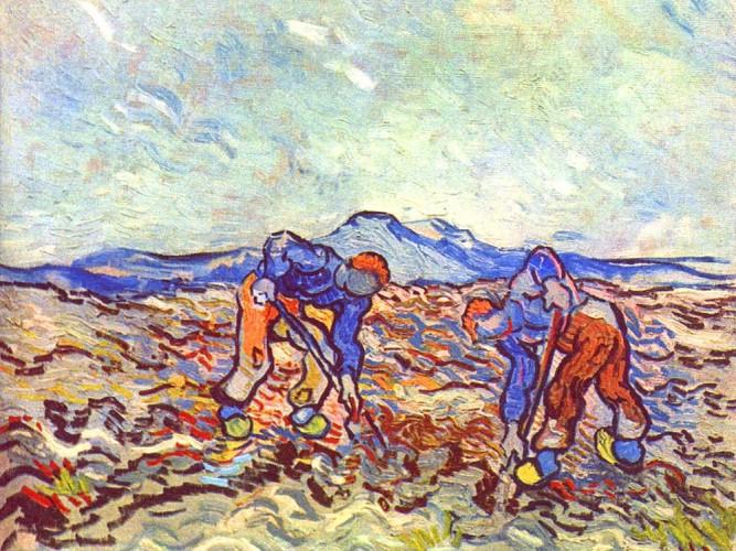 Vincent Willem van Gogh Çalışan Çiftçiler
