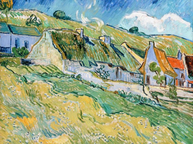 Vincent Willem van Gogh Auvers'te Çiftçi Kulübeleri