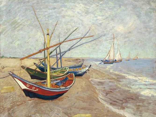 Vincent Willem van Gogh Kıyıda Kayıklar