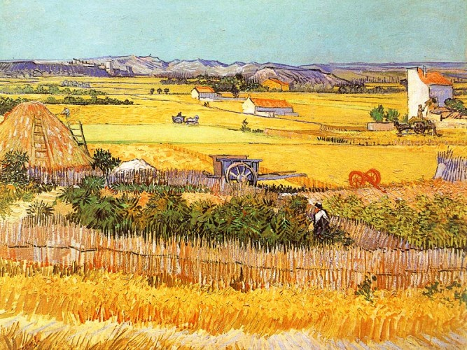 Vincent Willem van Gogh Mavi Arabalı Hasat Manzarası
