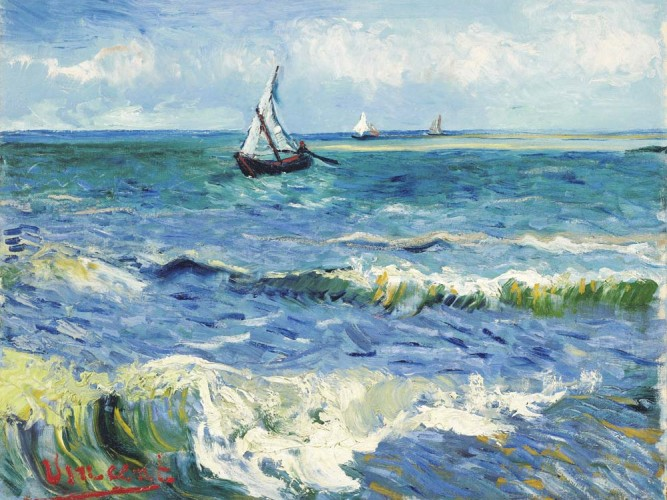 Vincent Willem van Gogh Saintes Maries'de Deniz