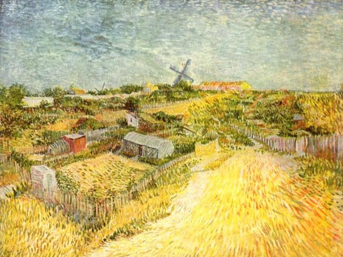 Vincent Willem van Gogh Montmartre'den Bakış