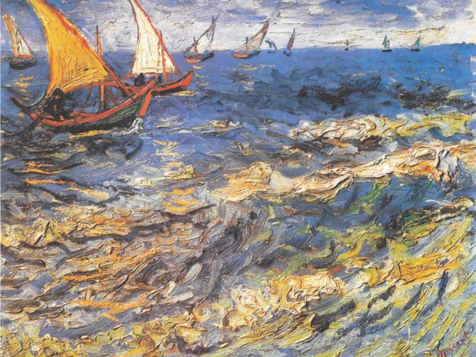 Vincent Willem van Gogh Saintes Maries'te Deniz