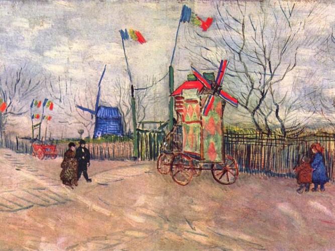 Vincent Willem van Gogh Montmartre'da Bayram