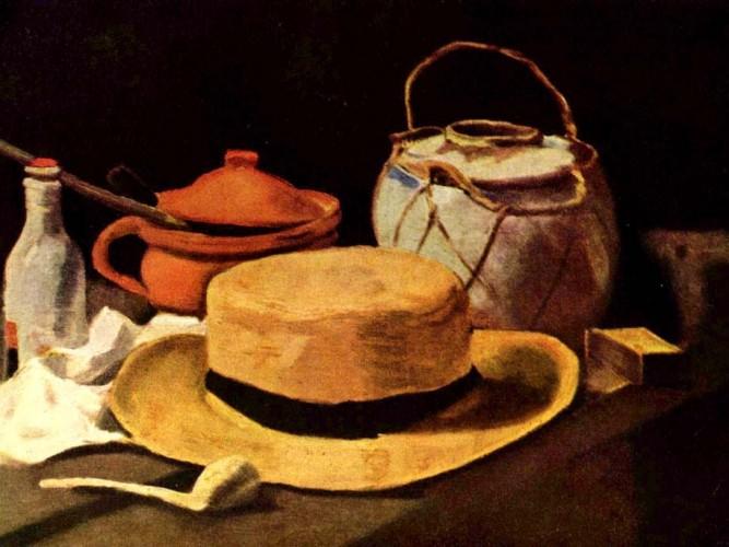 Vincent Willem van Gogh Şapka ve Pipolu Natürmort