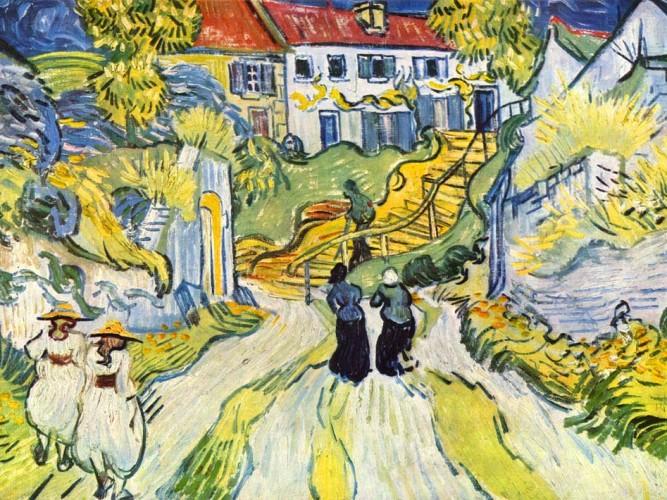 Vincent Willem van Gogh Auvers'te Yol ve Merdiven