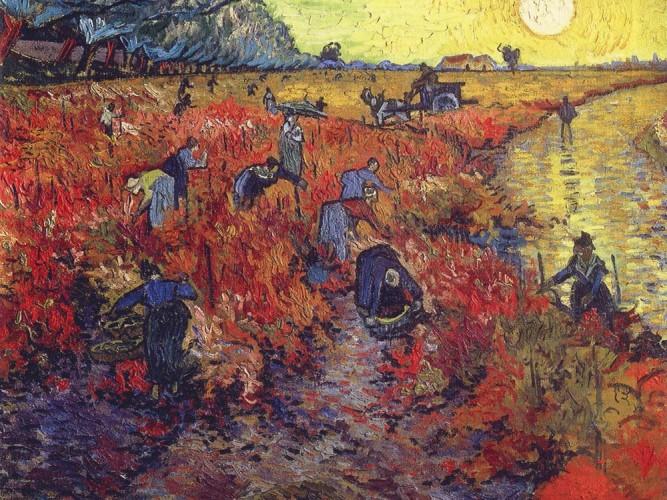 Vincent Willem van Gogh Kırmızı Üzüm Bağı