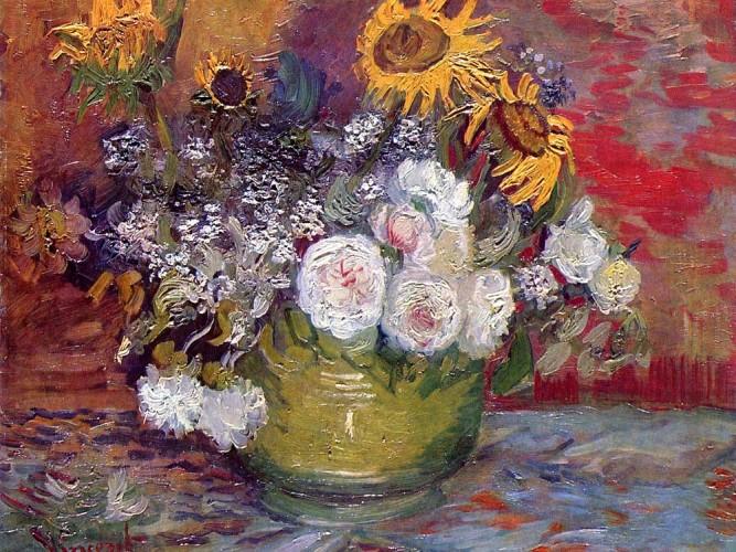 Vincent Willem van Gogh Güller ve Ayçiçekleri