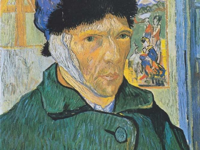 Vincent Willem van Gogh Bandajlı Kulağı ile Kendi Portresi