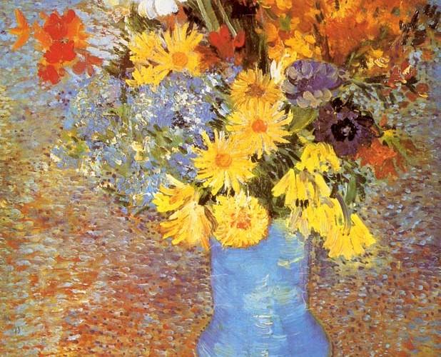 Vincent Willem van Gogh Mavi Vazoda Çiçekler