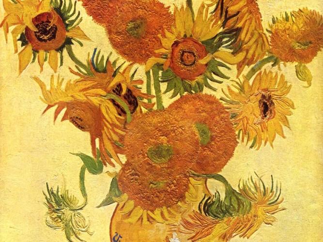 Vincent Willem van Gogh Vazoda Ayçiçekleri