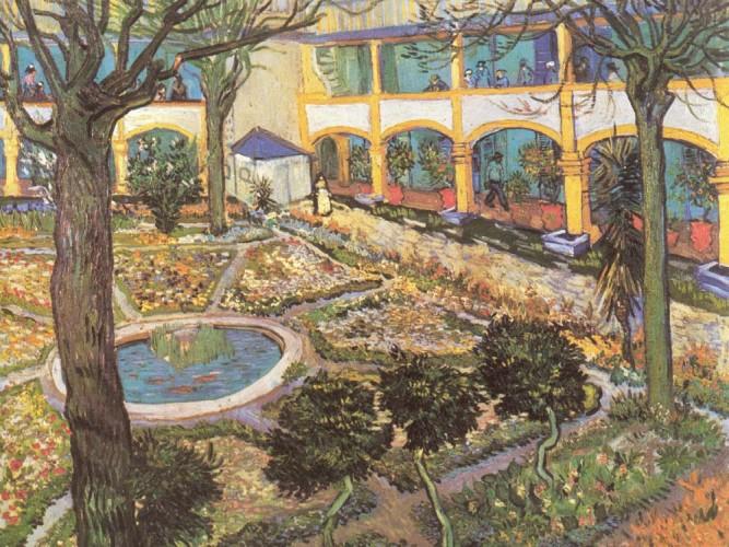 Vincent Willem van Gogh Arles Hastahane Bahçesi