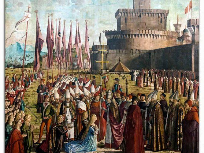 Vittore Carpaccio Hacıların Papa Ciriac ile Karşılaşmaları