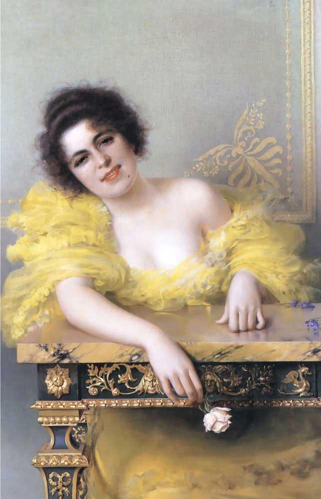 Vittorio Matteo Corcos Genç Bir Kadının Portresi
