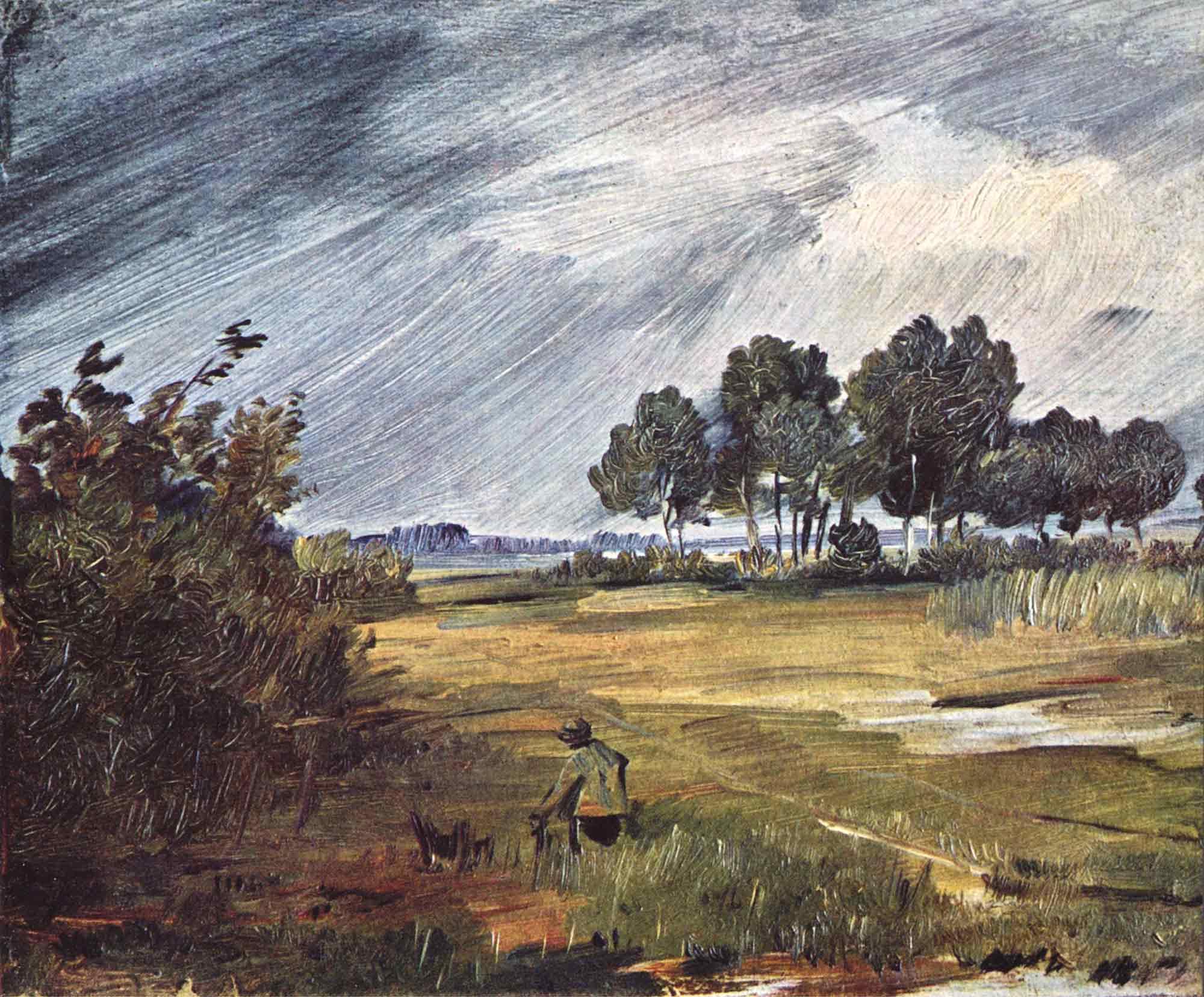 Wilhelm Busch Yağmur Manzarası