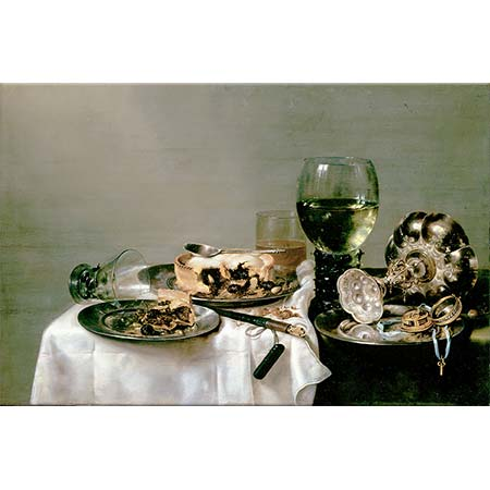 Willem Claesz Heda Böğürtlenli Çörek İle Kahvaltı