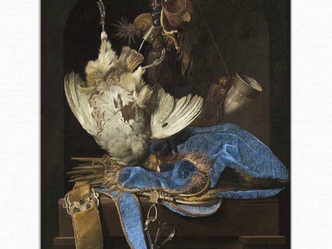 Willem van Aelst Av Malzemeleri ile Natürmort