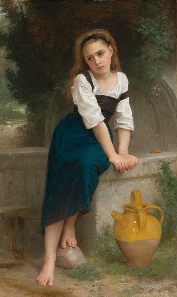 William Adolphe Bouguereau Çeşme Başındaki Yetim Kız