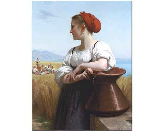 William Adolphe Bouguereau Çiftçi Kız