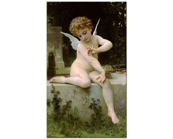 William Adolphe Bouguereau Cupid ve Kelebeği