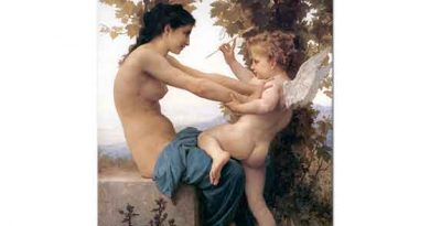 William Adolphe Bouguereau Cupid'e Direnen Genç Kız